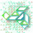Abstract geometric background with triangles and grid — Stok Vektör