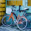 Two old bicycles — Stock Photo