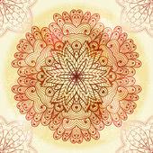 Ornamento Rosa étnico dibujado a mano — Vector de stock