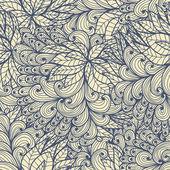 Patrones azul floral sin fisuras — Vector de stock