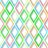 Abstract bright colorful geometric seamless background with diamond grid. Eps10 — 图库矢量图片