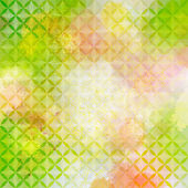 ビンテージ緑とピンク多重背景幾何学的な飾り。eps10 — ストックベクタ