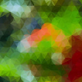 Ljust gul och grön defocused bakgrund med geometriska trekantiga prydnad — Stockvektor