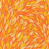 Fondo estilizado fuego inconsútil con llamas abstractas — Vector de stock