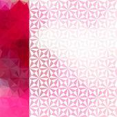 Fundo desfocado rosa com ornamento triangular geométrico — Vetorial Stock