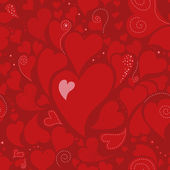 Romantic seamless pattern with hearts — Vector de stock