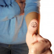 Ok, finger up, smile, good job — Stock Photo #36130001