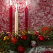 Holiday Candle Decoration — Stock Photo