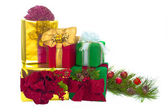 Five Holiday Gift Packages — Stock Photo