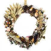 Field, Forest and Ocean Harvest Wreath — Stock Photo