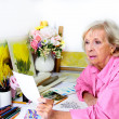 Artist Considers Preliminary Plans for Art Work — Stock Photo