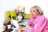 Artist Considers Preliminary Plans for Art Work — Stock Photo