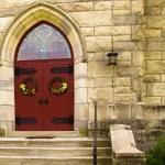Постер, плакат: Red Doors of a Church