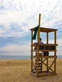 Lifeguard on Cape Cod beach — Stock Photo
