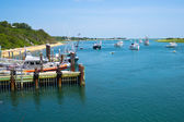 Boats near Chatham Fish Pier — Stock Photo