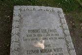 Robert Frost's Grave Marker — 图库照片