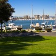 Park view of a Marina — Stock Photo