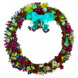 Wreath with Burgundy Grapes  — Stock Photo