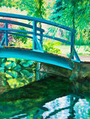 Giverny Bridge on the Water Lily Pond — Stock Photo