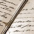 Stock Photo: Vintage handwritten letters