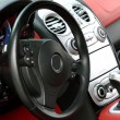 Sports car cockpit — Stock Photo