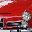 Red italian car — Stockfoto