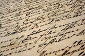 Beautiful vintage handwriting — Stock Photo