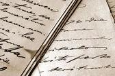 Vintage handwritten letters — Stock Photo