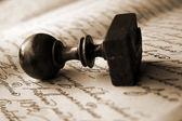 старинная печать — Стоковое фото