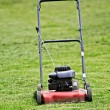 Red lawn mower — Foto de Stock