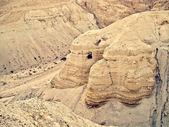 Qumran caves — Stock Photo