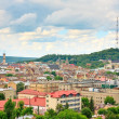 Lviv in cloudy day. Ukraine - Stock Photo
