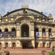 KIEV, UKRAINE-JUNE,12: Kiev Shevchenko Opera House in Ukraine in Kiev on June 12, 2012. It is the largest music theater of Ukraine, located in Kiev. The opera house, erected in 1901 — Stock Photo
