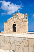 教会的圣伊利亚斯-古代正统寺十四世纪的小山丘上。塞浦路斯法马古斯塔区 protaras — 图库照片