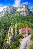 "Station ""Montserrat-Aeri"" against rocks, Montserrat, Spain — Stock Photo"