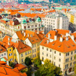 Houses near old town square in Prague, Czech Republic. View from City Hall — Stock Photo