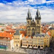 Old town square and Church of Virgin Maria Before Tyn, Prague, Czech republic — Stock Photo #34303489