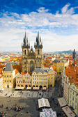 Old town square and Church of Virgin Maria Before Tyn, Prague, Czech republic — Stockfoto