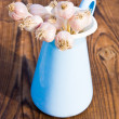 Garlic in pitcher — Stock Photo