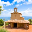 Chapel of St. Michael, mountains of Montserrat. Catalonia. Spain. There was a hermit hermitage X century — Stock Photo