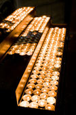 Burning candles in the church — Stock Photo