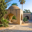 Stock Photo: Octagonal fountain in courtyard of monastery. AyiNapa, Cyprus