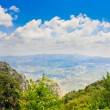 Stock Photo: View of valley from monastery of Montserrat, Catalonia, Spain. Height of about 1000 m above selevel