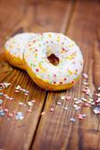 Delicious Donuts with Sprinkles — Stock Photo