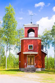 The orthodox chapel Birth of the Mother of God, Virgin Mary in Mutalahti , Ilomantsi, Finland — Stock Photo