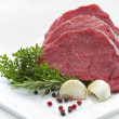 Beef fillet on a plate — Stock Photo
