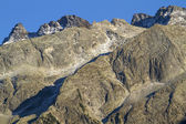 North italian mountains closeup with blue sky — Stock Photo