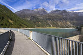 Neves water reservoir in the northern italian mountains — Stock Photo