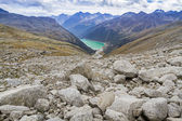 Neves water reservoir in northern Italy — Stock Photo