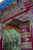 Alto antiga stupa em leh, ladakh, india — Foto Stock